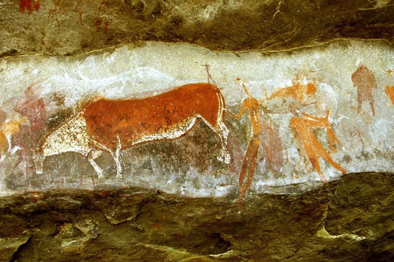 Drakensberg rock art - Kamberg game pass shelter