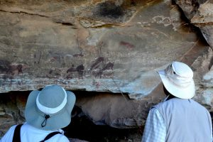 Drakensberg rock art at Giants Castle