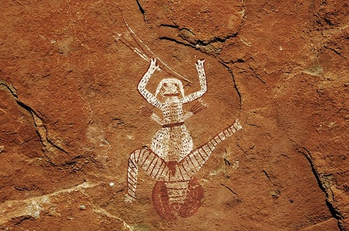 The moon godess - drakensberg rock art