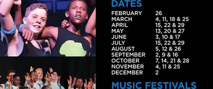 Drakensberg Boys choir concert dates for 2020