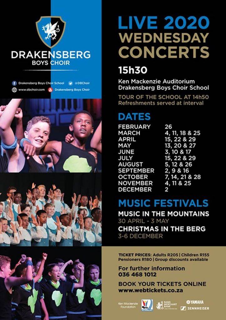 Drakensberg boys choir concert dates 2020